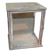 Large Wooden and Glass Box