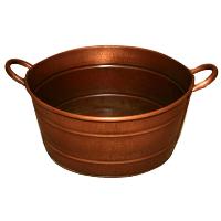 Copper Coloured Metal Beverage Buckets
