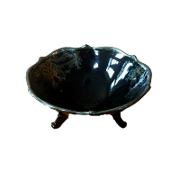 Vintage Black Candy Dish
