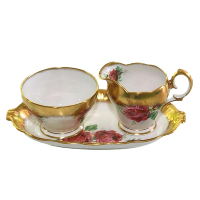 Roses Cream & Sugar Set
