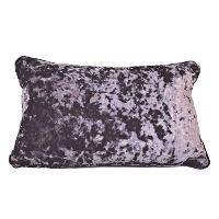Purple Crushed Velvet Accent Pillows
