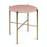 Pink/Gold Glass Side Table