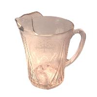 Pink Depression Glass  Jug #1