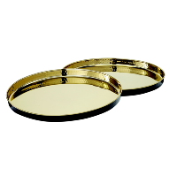Glam Black and Gold Round Tray