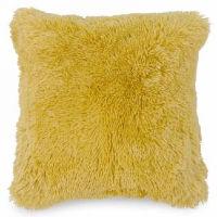 Mustard Yellow Faux Fur Pillows
