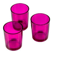 Bright Pink Candle Holders