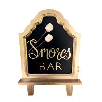 Gold Smore Bar Sign