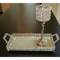 Crystal Candle Holder (without Tray)