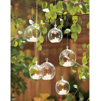 Glass Tealight Hanging Balls