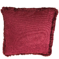 Deep Red Fringe Pillows