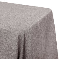 Grey Faux Linen Tablecloth