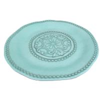 Large Round Turquoise Platter