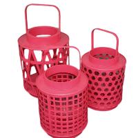 Hot Coral Lanterns