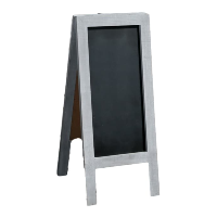2 Sided Gray Chalkboard Stand
