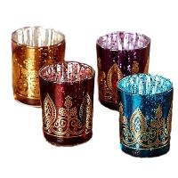 Jewel Toned Henna Tealights