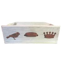 Rust Handle Wood Drawer