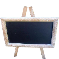 Wood Frame Table Top Easel Chalkboard