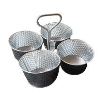 4 Small Buckets with Carrying Handle