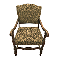 Green and Gold  Patterned Chair