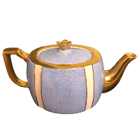 Vintage Blue and Cream Tea Pot