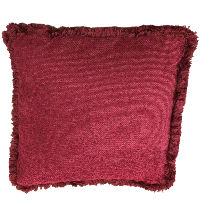 Deep Red Fringe Pillows