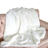 Creamy White Faux Fur Blanket