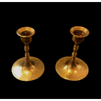 Low Brass Candlesticks
