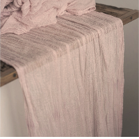 Dusty Nude Pink Cheesecloth Table Runners - 16'