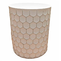White and Gold Honeycomb Tables