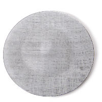 Grey Glass Charger Plates