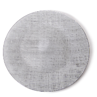 The Head Table Collection: Grey Glass Charger Plates