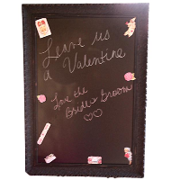Large Chalkboard with Black Frame