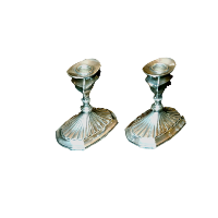 Silver Short Candlestick Holders