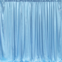 Example of our Sky Blue Satin Backdrop Service