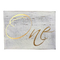Gold Wood Table Numbers
