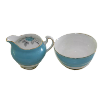Blue Cream & Sugar Set