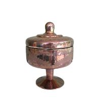 Pink/Brown Mercury Glass Jar #3 with Lid