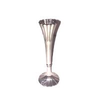 Silver Fluted Bud Vase