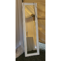 White Gloss Standing Mirror
