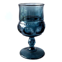 Vintage Blue Goblets - Mixed Patterns