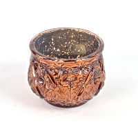 Short Bronze Diamond Votive Holders