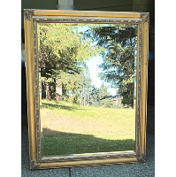Gold Framed Glass Mirror