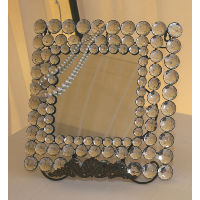 Square Glam Mirror with Stand