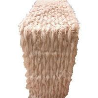 Pink Fur Table Runner