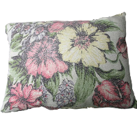 Pretty Vintage Flower Pillow