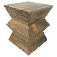 Wood Accordian Accent Side Table