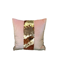 Square Pink Pillows with Sequin Centers