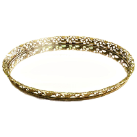Gold Mirror Serving Tray