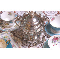 Real Silver Sugar Bowl with Spoons