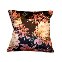 Moody Floral Square Pillow